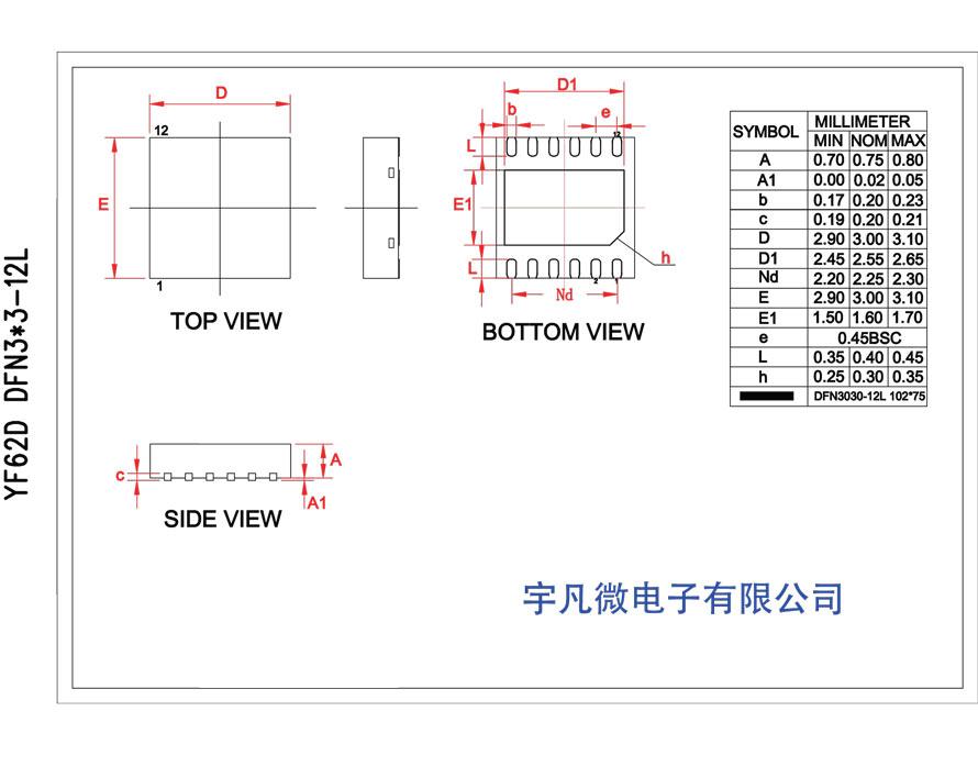 DFN12封装资料图2
