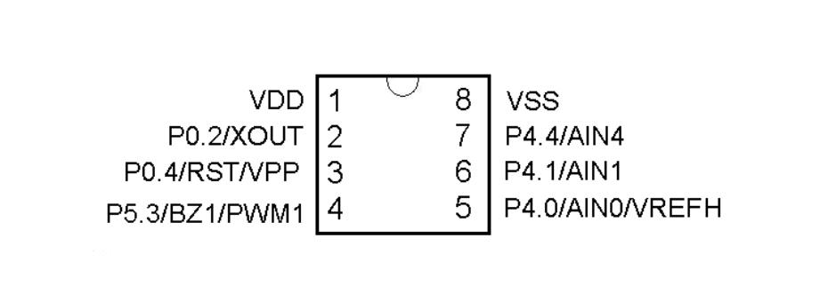 YF2711单机片SOP8引脚排列图
