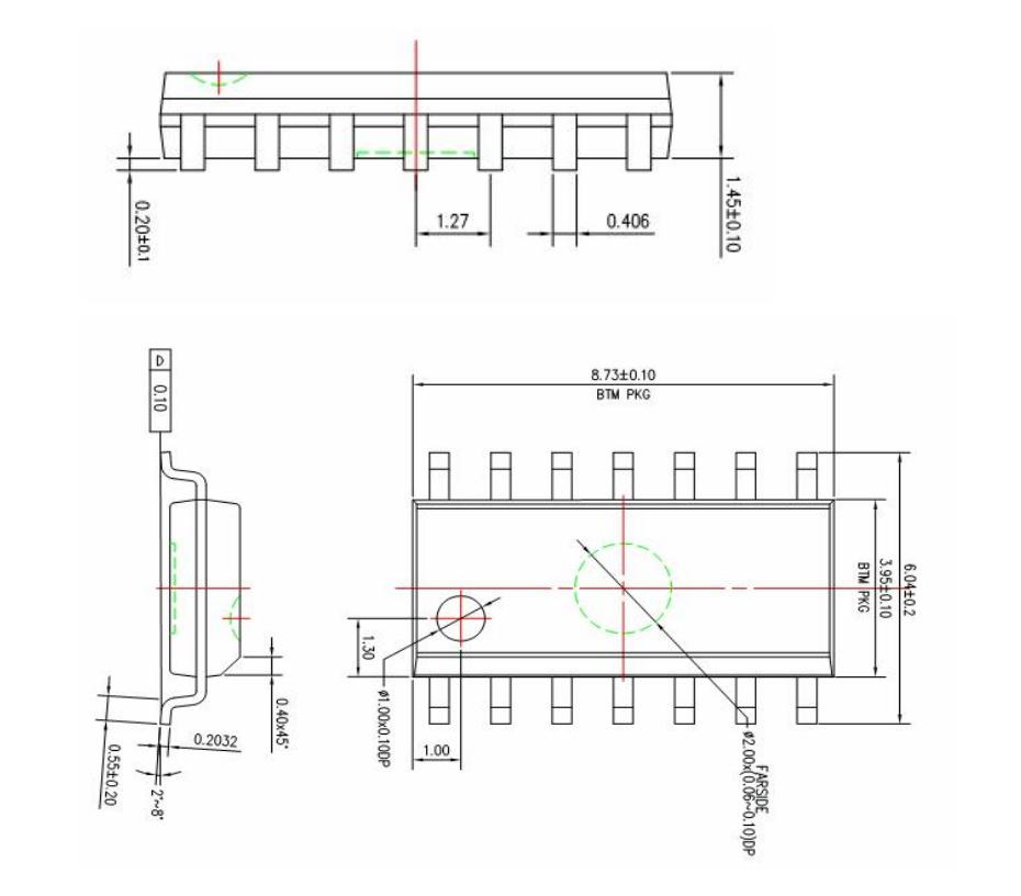 SOP14外形图与封装尺寸